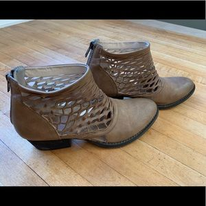 Altar'd State Brown Ankle Booties (Women's Size 7)